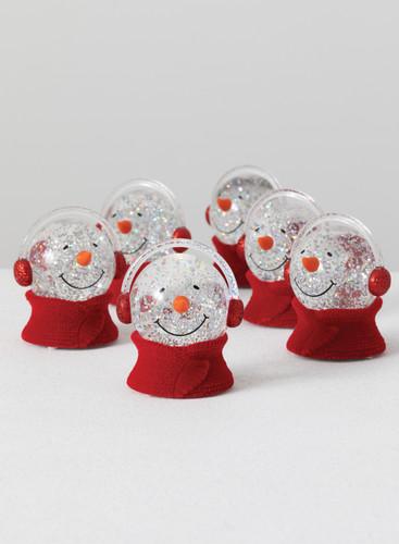 LED Snowman Head Snow Globe