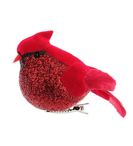 "4"" Fat Cardinals with Clip Ornament - Box of 12"