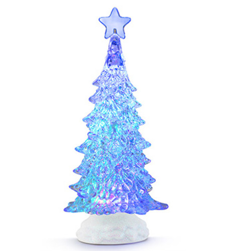 "11.5"" LED Swirling Lighted Christmas Tree with Star"