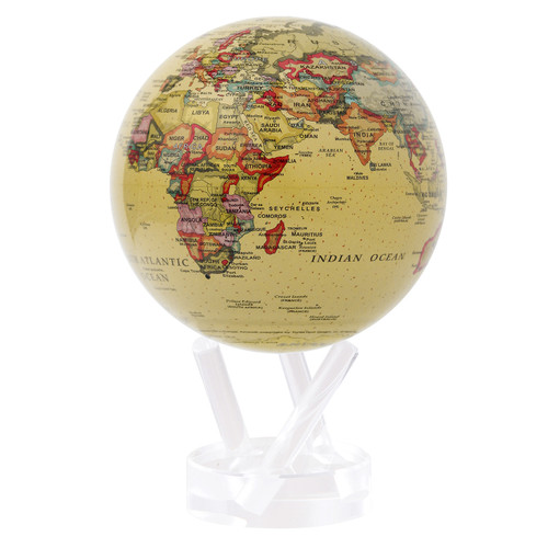 "4.5"" Self Turning Political Map Globe with Acrylic Base by Mova"
