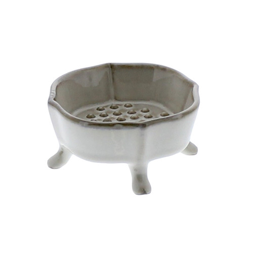 Ceramic Rue Footed Soap Dish