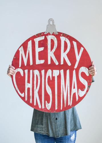 """30' Metal """"Merry Christmas"""" Sign- Holiday Decor"""
