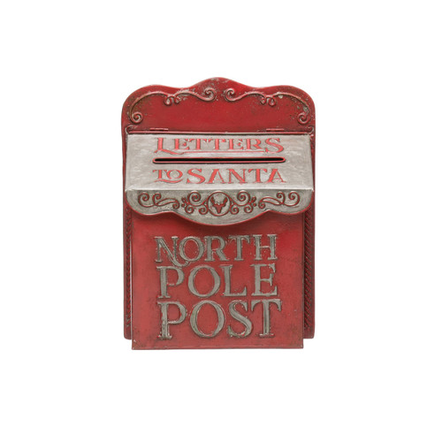 "Metal MailBox ""North Pole Post"""