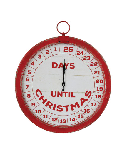 "14"" Vintage Countdown Wall Decor ""Days Until Christmas"""