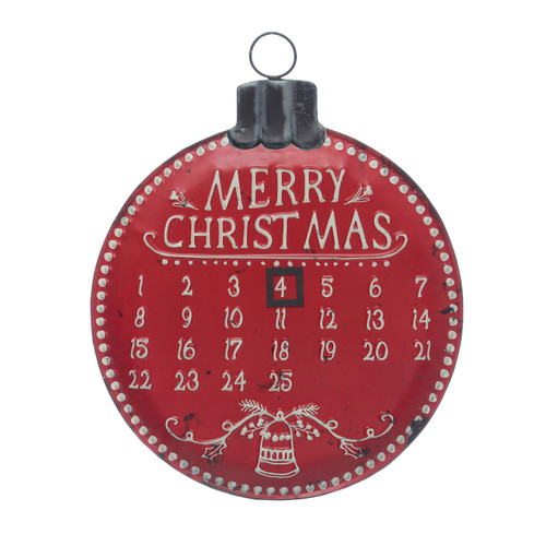 "20""H Metal Advent Calendar Wall Décor"