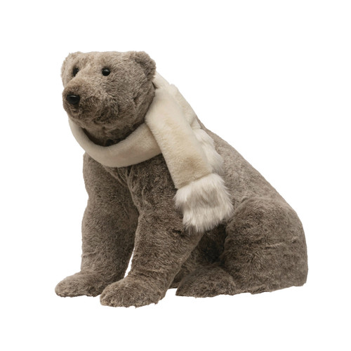 "23"" PlushSeated Bear with Scarf"