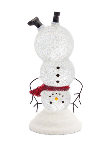 "10.5"" LED Snowman Snow Globe W/6 HR Timer"
