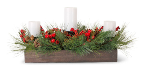 "27"" Pine and Berry Artifical Centerpiece"