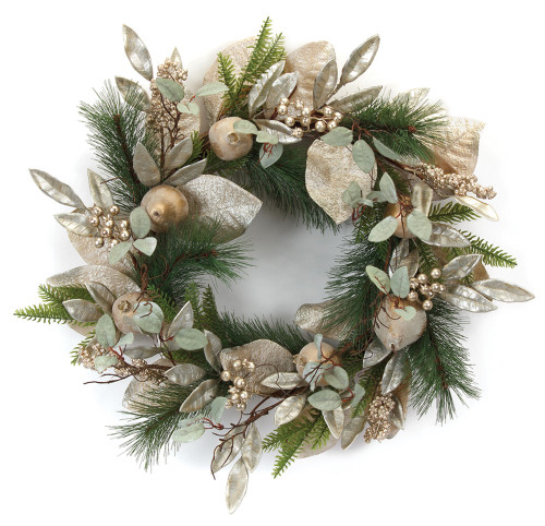 "21"" Pine and Pomegranate Artifical  Wreath"