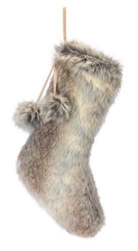 "18"" Faux Fur Stocking"