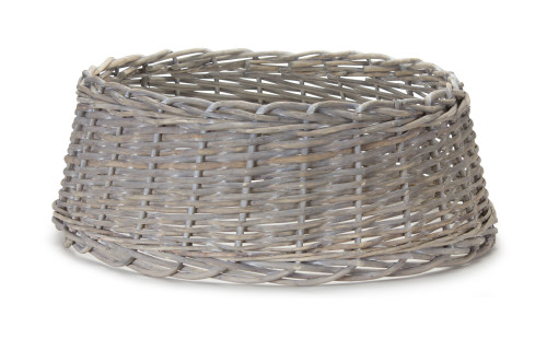 "24"" Tree Stand -  White Rattan Basket"