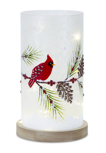 "12"" LED Cardinal Glass  Luminary"