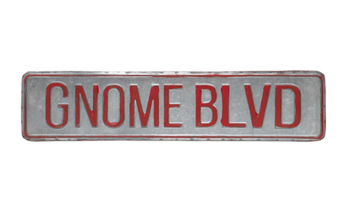 "17""  Metal Sign 'Gnome Blvd"""
