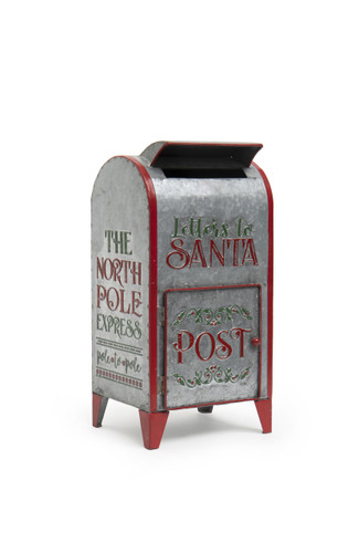 "16""  Metal ""Letters to Santa"" Post Office"