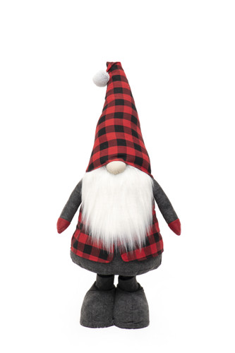 """68"""" Buffalo Check Gnome with Expandable Legs - Large"""