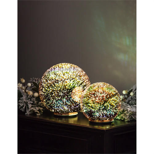 "Stargazing 6"" & 8"" LED Orbs, Set of 2"