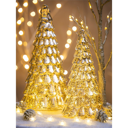 LED Gold Tree, Set of 2