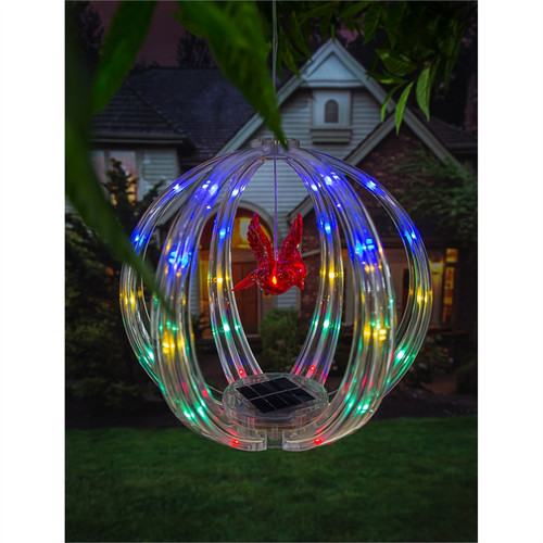 Chasing Multicolor Light Solar Sphere Mobile, Cardinal