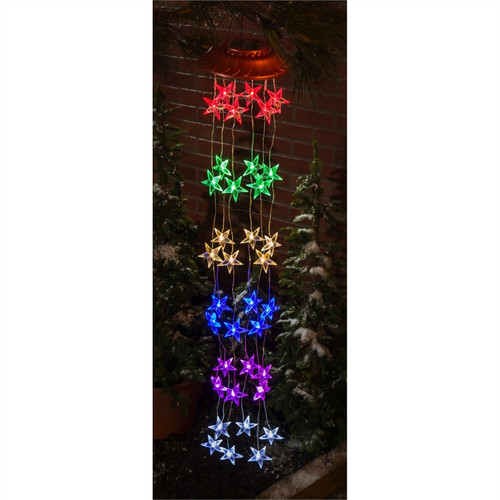 Chasing Multicolor Light Solar Mobile, Star