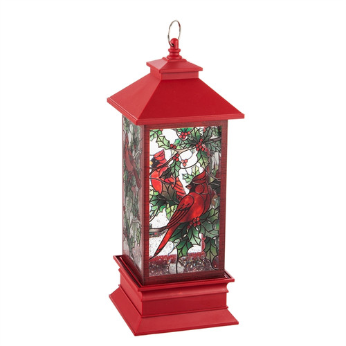 """10.5"""" LED Spinning Water Cardinal Tabletop Décor"""