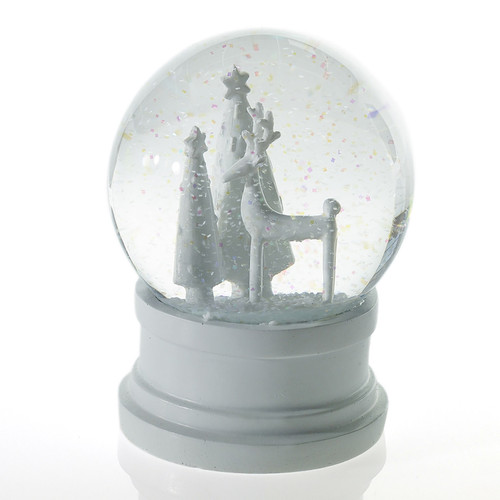 Miniture All White Snow Globe