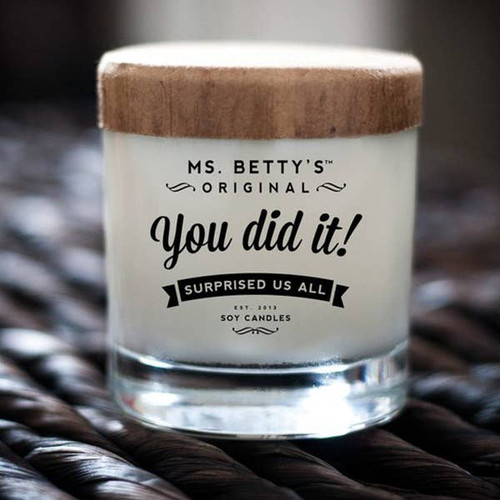 You Did It! - Surprised Us All (Hazelnut Coffee) Soy Candle by Ms Betty's Orginals