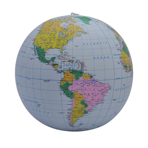 "12"" Blue Political Inflatable Globe"