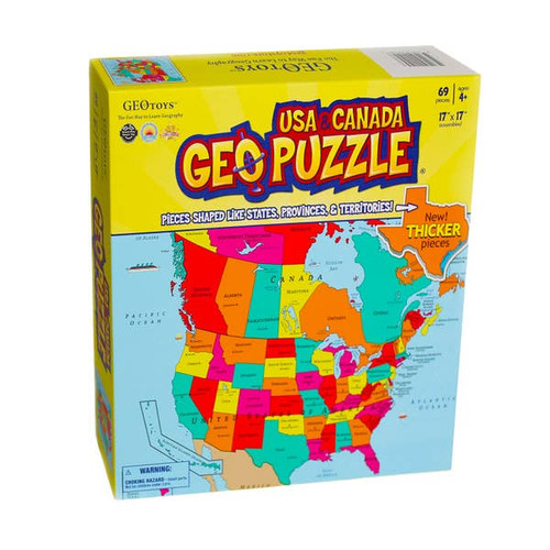 Geo Puzzle USA and Canada