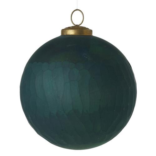 "5""Majestic Glass Ornaments ~ Set of 2"