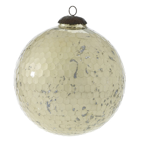 "8"" Anomaly Glass Ornaments White"