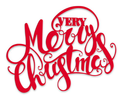"59"" Very Merry Christmas Metal Sign"