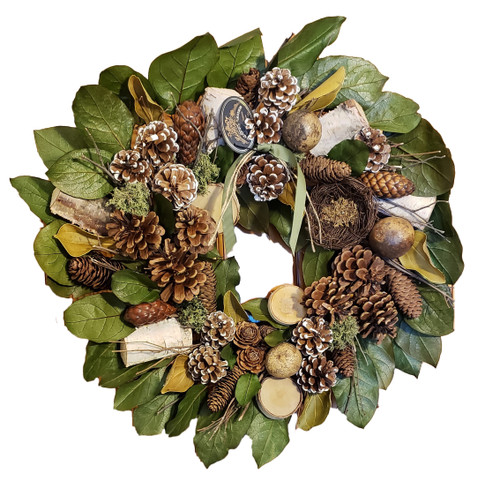"22"" Aspen Woods  Dried  Botanical Wreath by Madison's Gardens"