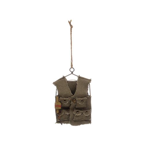 """4-1/4""""H Canvas Vest Ornament"""
