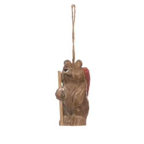 "4""H Pine Wood Bear Ornament"