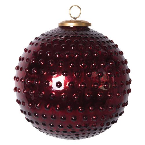 "8"" Round Glass Hobnail Ball"