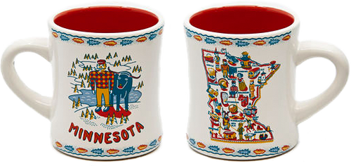 Minnesota Mug, Stoneware (Set of 2)