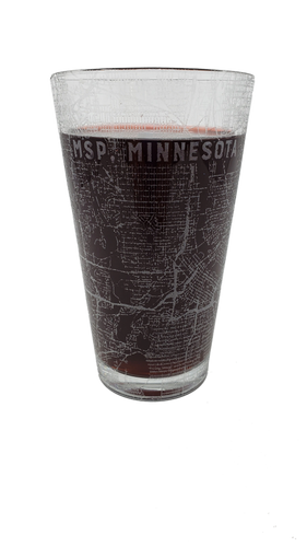 Engraved Minneapolis/St Paul (MSP) Pint Glasses