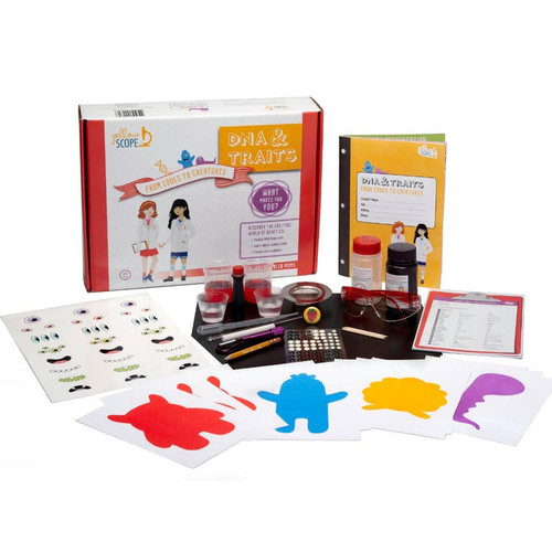 Girls Discover Science ~ DNA & Traits: Codes to Creatures Educational Kit ~ Kids 6-12