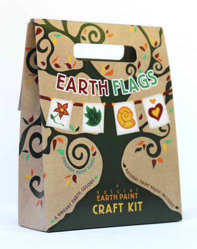 Paint Earth Flags Kit with Natural Paints- Ages 6-12