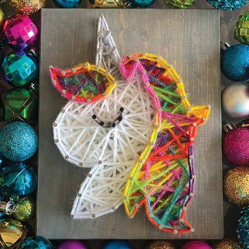 Unicorn (Rainbow) Mini String Art Kit - Ages 8+