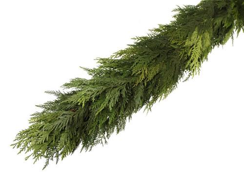 """Fresh Cedar Garland - 75"""" Roll"""