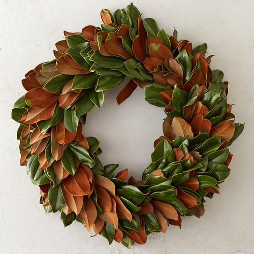 "24"" Fresh Magnolia Wreath"