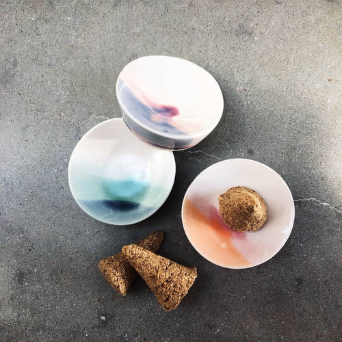 Ceramic Incense Dish - 3 Color Choices