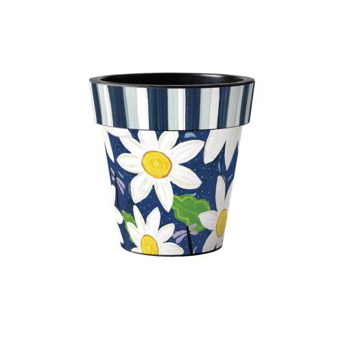 "Daisy Garden Blues 12"" Art Planter  ~ Set of 2"