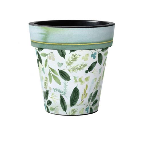"""Poinsettia Leaves 15"""" Art Planter  ~ Set of 2"""