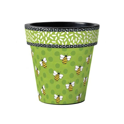 "Bees Delight 15"" Art Planter  ~ Set of 2"