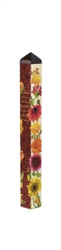 "Flowers of Fall 40"" Art Pole"