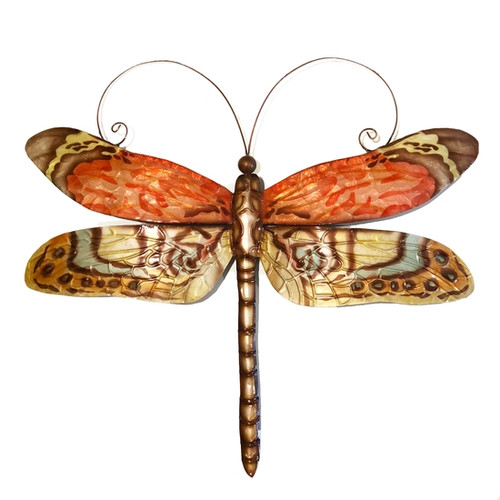Dragonfly Wall Decor - Red Multi Color