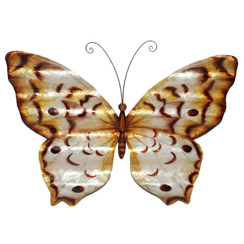 Butterfly Wall Decor - Copper With Ripples