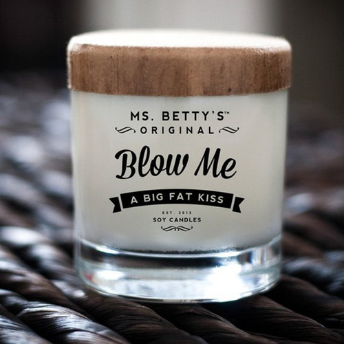 Blow Me - A Big Fat Kiss! (Vanilla and Brown Sugar) Soy Candle by Ms Betty's Orginals